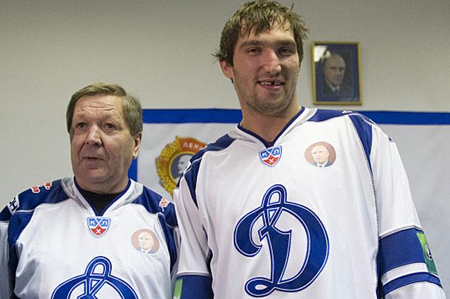 Легендарный хоккеист, двукратный олимпийский чемпион Александр Мальцев и Александр Овечкин