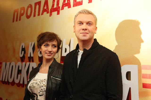 Сергей Светлаков с женой Антониной на премьере фильма Скорый Москва-Россия . 2014 год