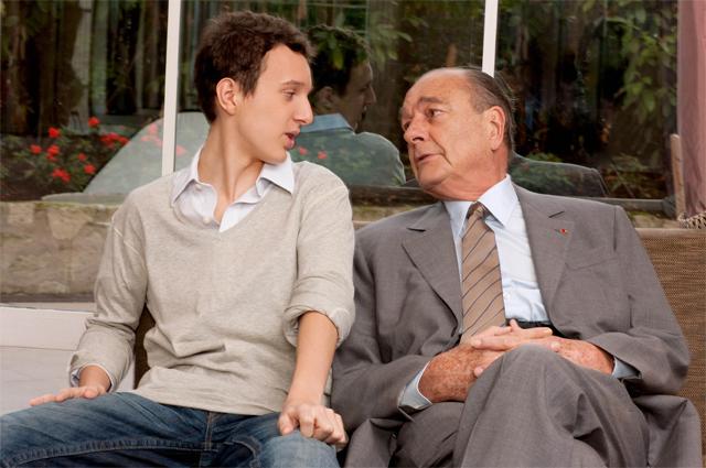 Жак Ширак и его внук Мартен.