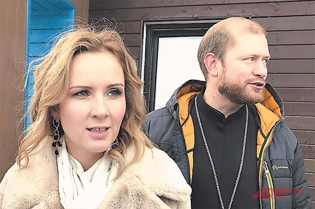 Мария Львова-Белова и о. Павел.