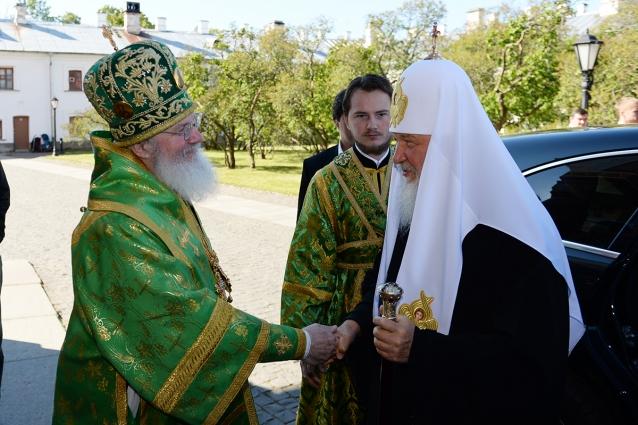 Патриарх приехал отпраздновать день памяти основателей монастыря