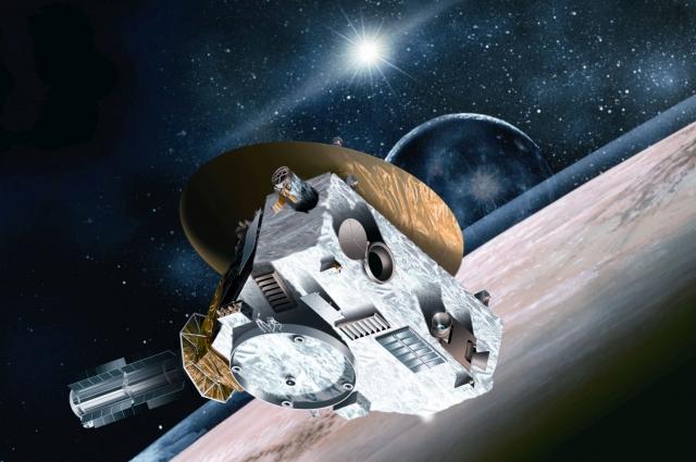 Межпланетная исследовательская станция Новые горизонты с прахом Клайда Томбо
