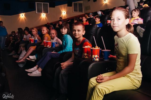 Детей ждали бесплатные кинопоказы.