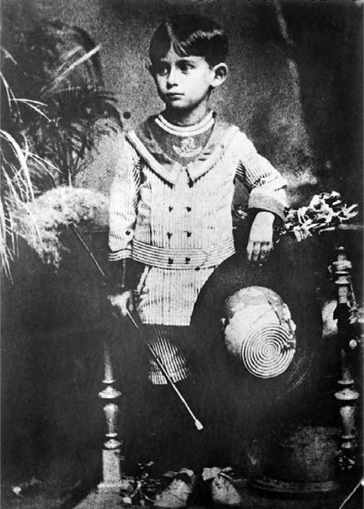 Франц Кафка в детстве.