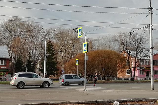 Пешеходный переход у парка