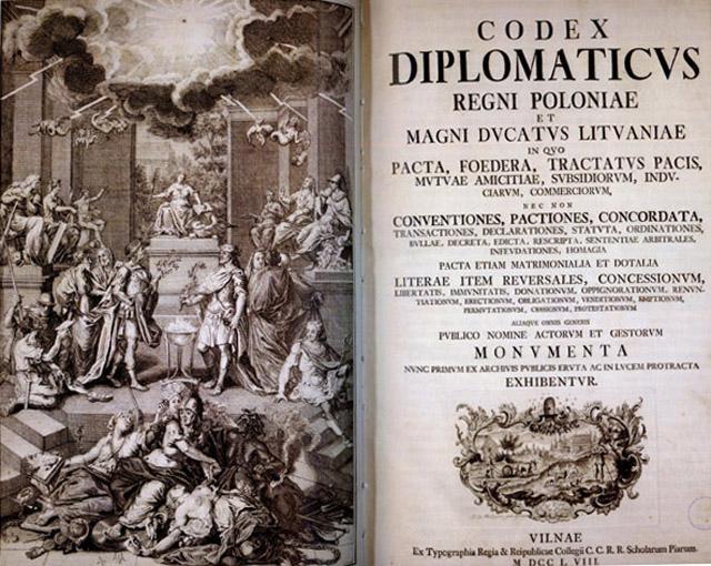 Дипломатический кодекс, 1758 год.