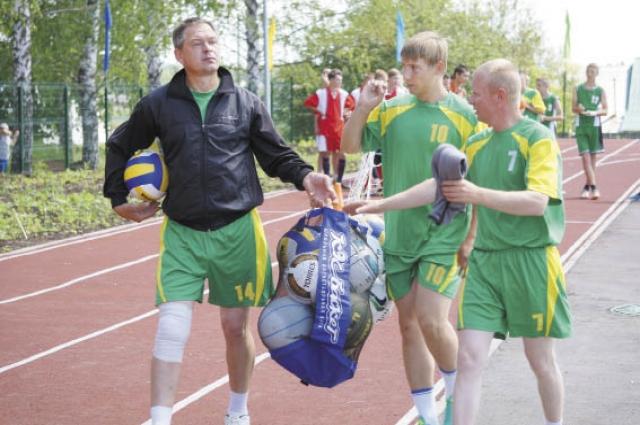 За 4 года спортсмены села трижды становились призёрами краевой спартакиады.