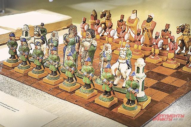 шахматы царской семьи.