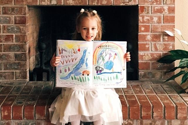 Дети сами заполнили страницы книги.