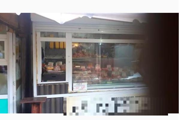 Магазина, где продают мясо.