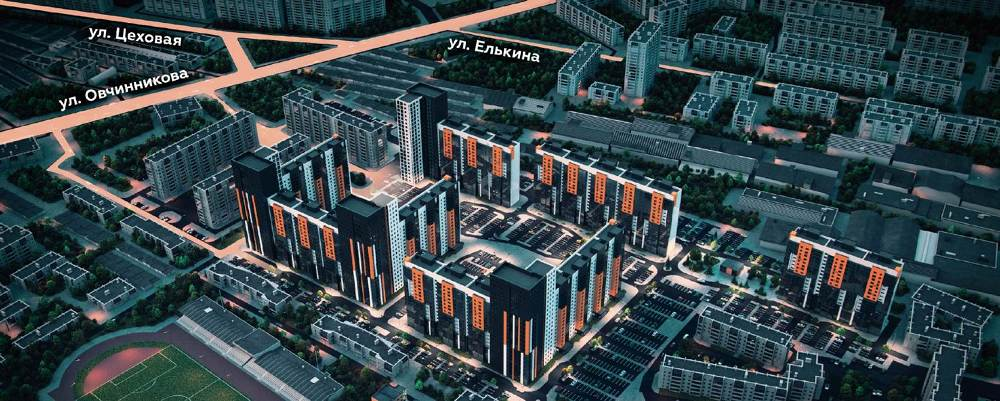 Жилой комплекс расположен в удобном месте.