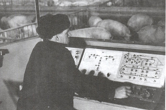 пульт управления в свинарнике ОПХ
