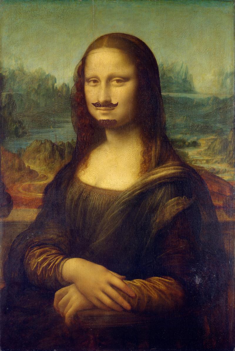Марсель Дюшан. Мона Лиза с бородой и усами.
