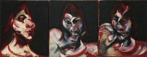 Френсис Бэкон. Три работы с портретом Генриетты Мораэс.