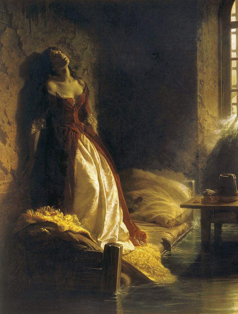 К. Д. Флавицкий. «Княжна Тараканова», 1864, Государственная Третьяковская галерея.