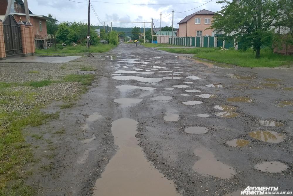 Дорога в Гавердовском.