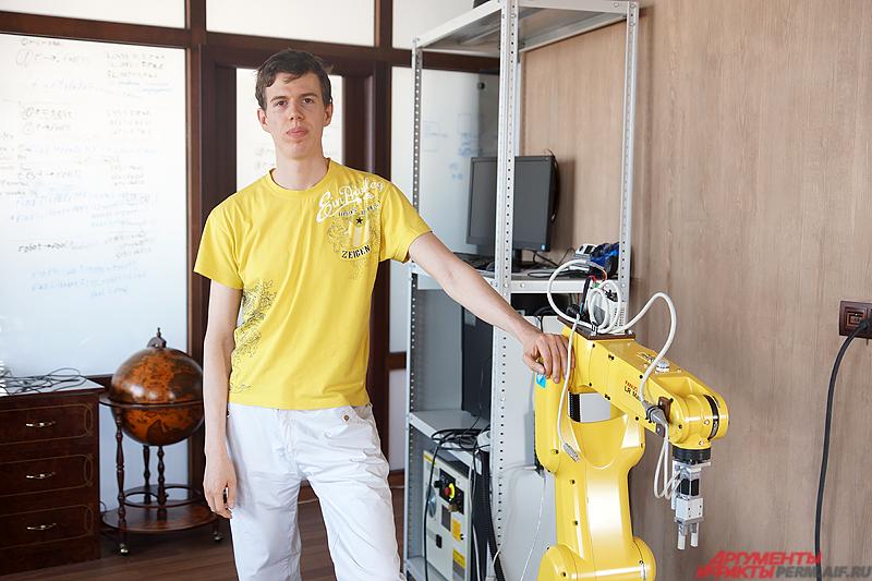 Пермский робототехник Михаил Тюлькин.