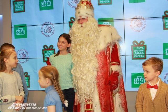Фотосессия с Дедом Морозом.