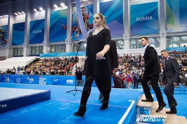 В Казань Алия приехала беременной.