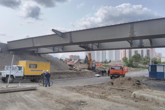 Развязку четвёртого моста через Енисей строят ударными темпами.