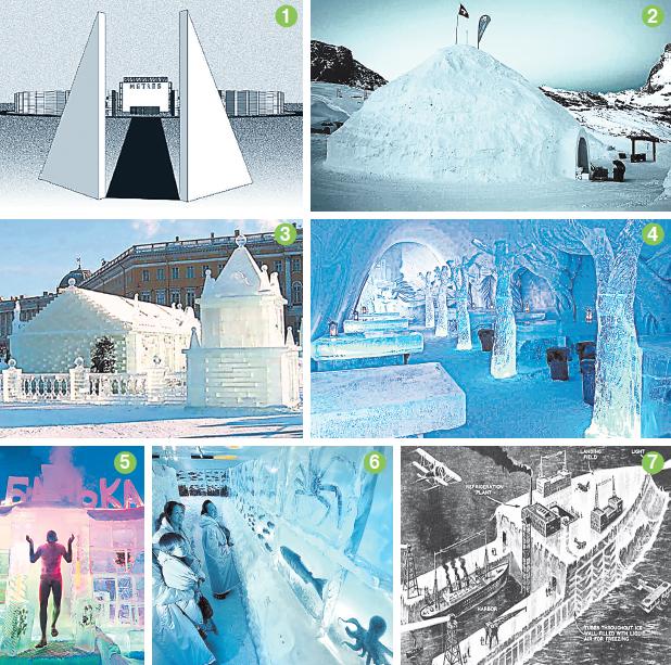 Что можно построить из замёрзшей воды?