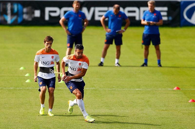 Подготовка сборной Нидерландов к матчу с костариканцами