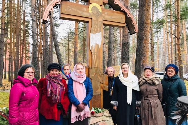 Участники чтений посетили место убийства Алапаевских мучеников