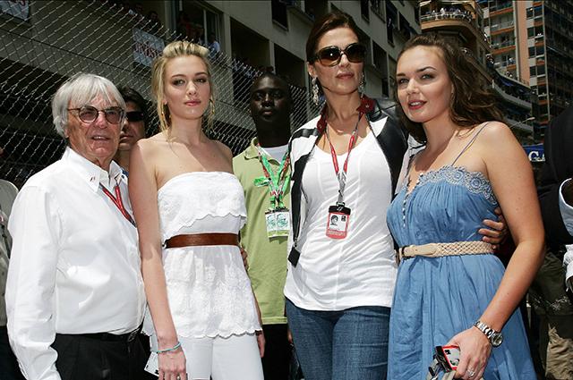 Берни Экклстоун с женой и дочерьми на Гран-при Монако. 2006 год.