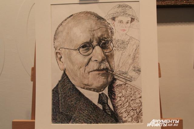 Карл Юнг в исполнении ростовского художника Николая Полюшенко.