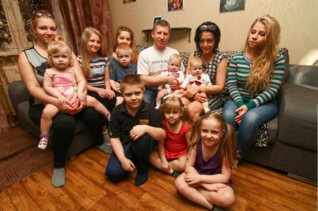 Сергей Иванчук с семьей.