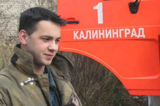 Александр Русаков, командир отделения пожарной части № 1, вывел из огня людей при пожаре ТЦ «Сити» в облцентре.