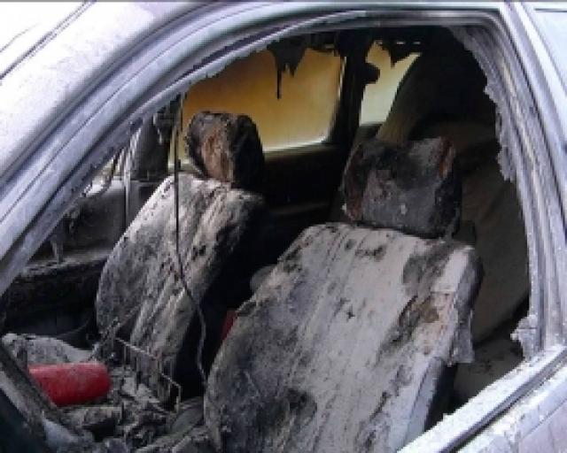 В Оренбурге сгорел автомобиль.