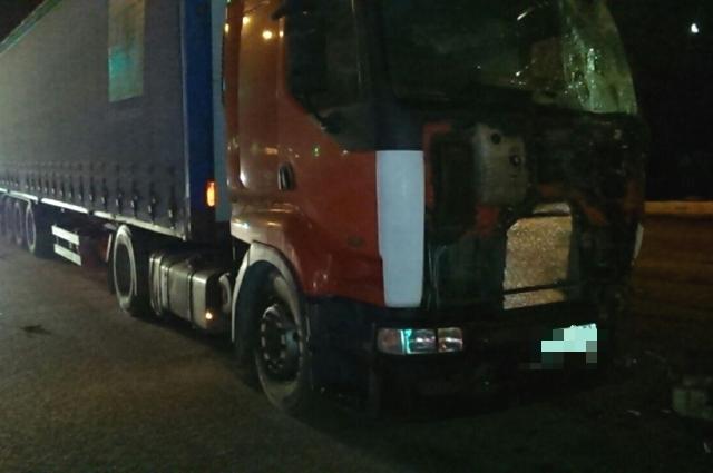 За рулём грузовика  был житель Челябинской области.