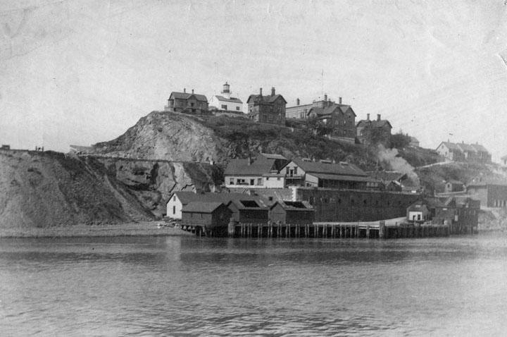 Остров Алькатрас в 1895 году