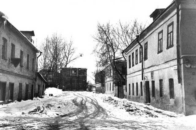 Палочный переулок. Конец 1970-х годов