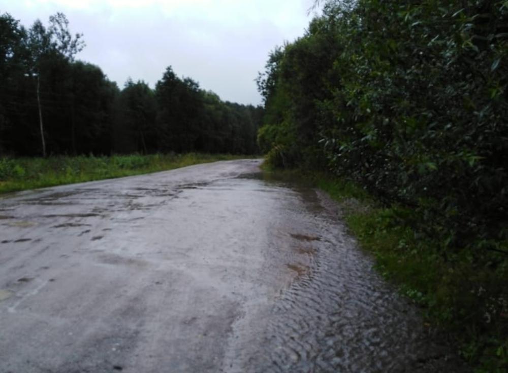 Подтопленная дорога.