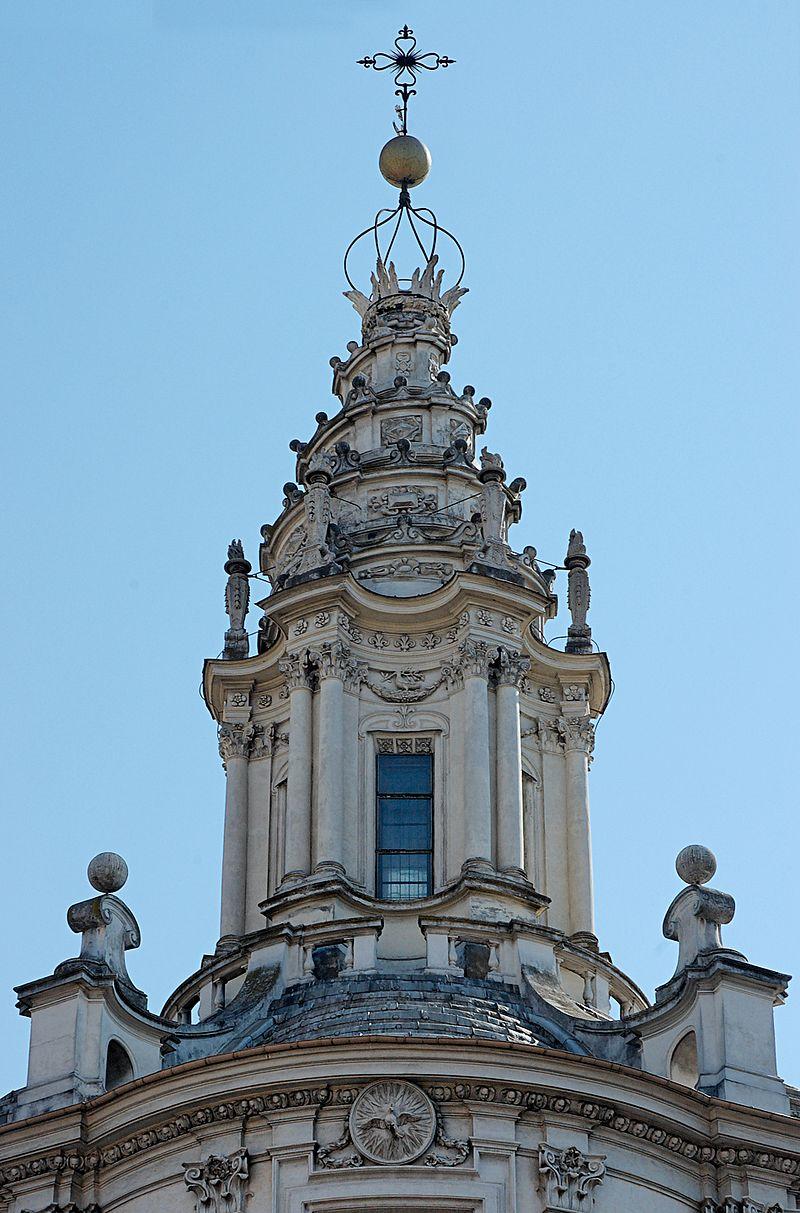 Франческо Борромини. Навершие университетской церкви в Риме