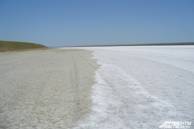 Солёное озеро одно из чудес Ростовской области заповедника Ростовский