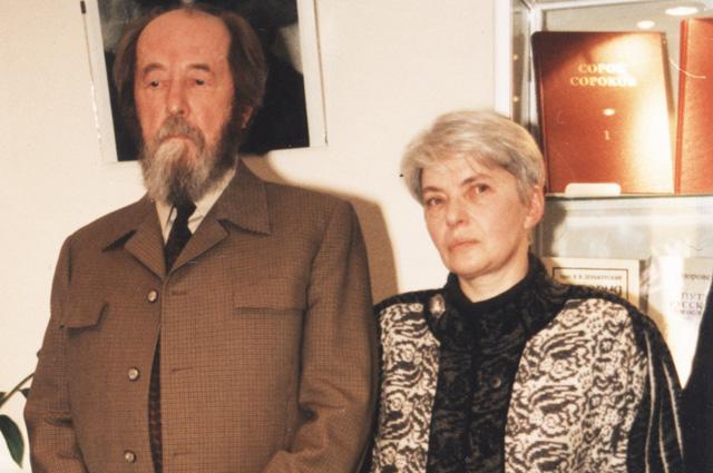 Александр Солженицын с женой Натальей (в девичестве Светловлой)