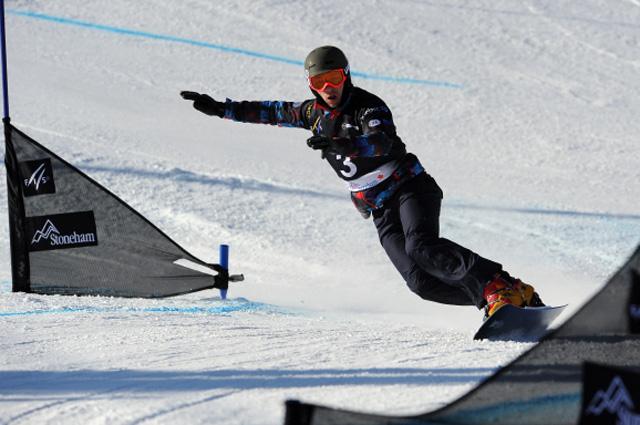 Российский спортсмен Вик Вайлд в квалификационных соревнованиях чемпионата мира по сноуборду в дисциплине параллельный гигантский слалом среди мужчин. 2013 год