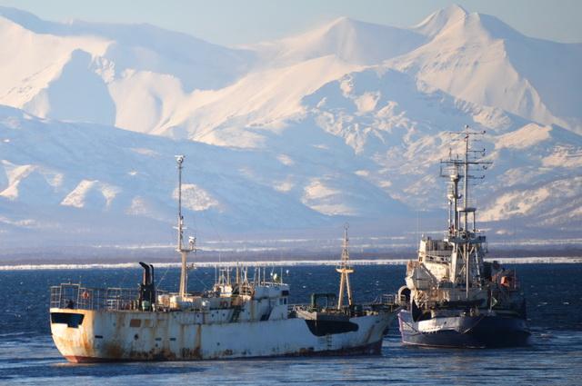 Браконьерское судно, пограничный корабль