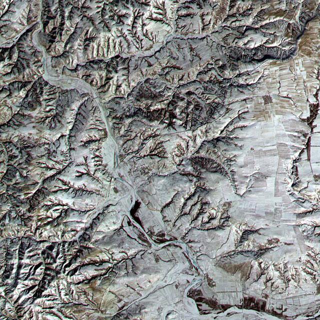 Cпутниковое изображение Великой Китайской стены