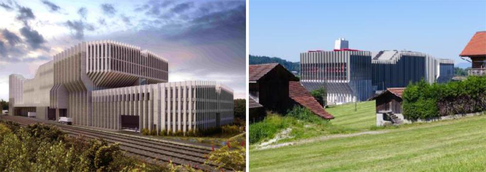 Мусоросжигательный завод в Швейцарии.