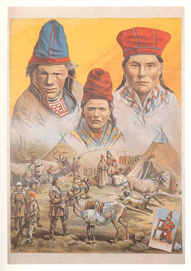 Афиша этнографической экспозиции в Гамбурге 1893/1894 гг.