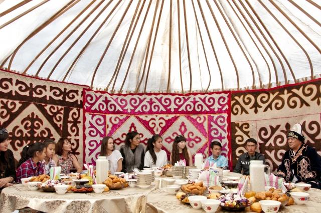 В Омской области много казахских аулов.