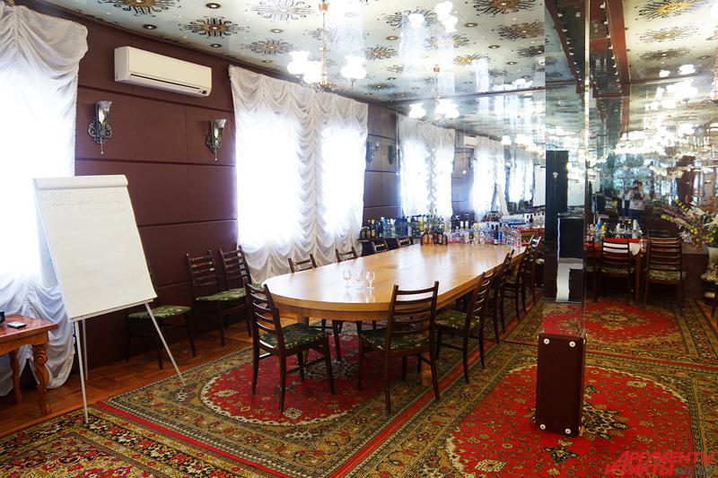 Специальный зал для дегустаций алкоголя