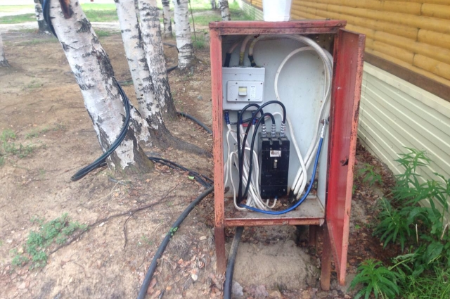 Электрощиток в лагере