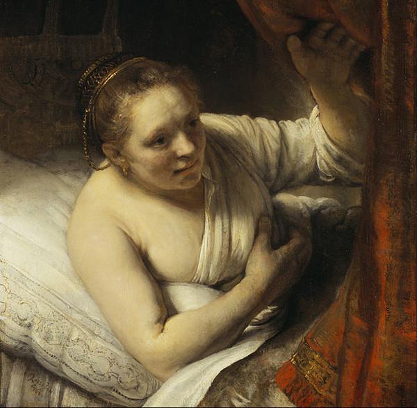 После смерти жены любовницей художника стала кормилица его сына Гертье Диркс.