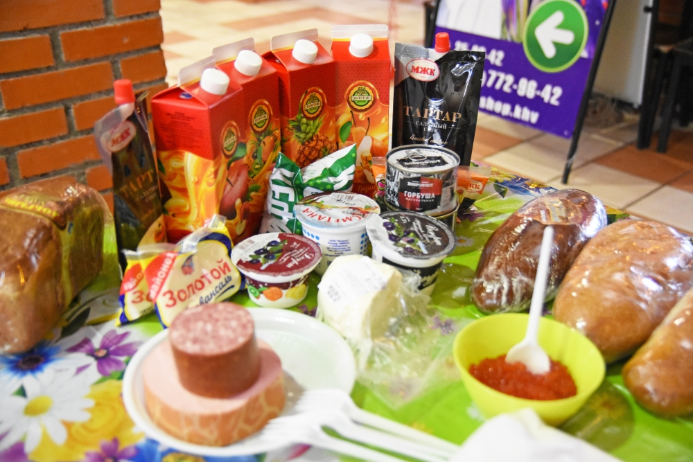 Стандартный набор продуктов всех участников конкурса, вкусного и здорового бутерброда.