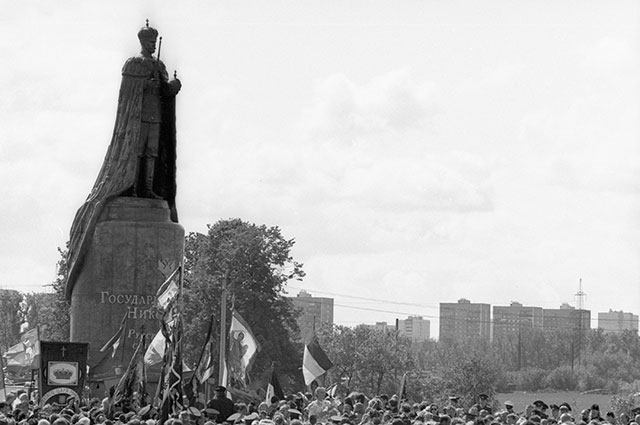 Памятник последнему российскому императору Николаю II работы Вячеслава Клыкова.